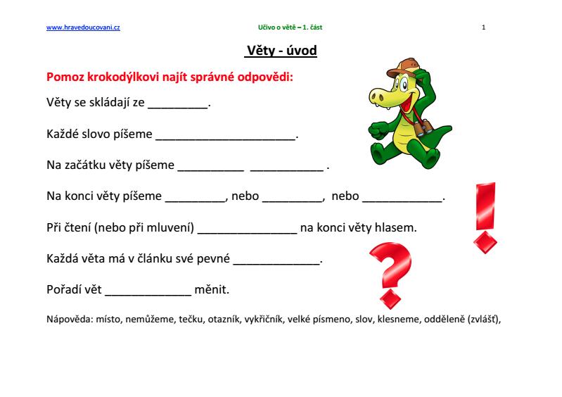 Pracovni Listy Pro 2 Tridu Pdf Verze Elektronicka Hrave Doucovani